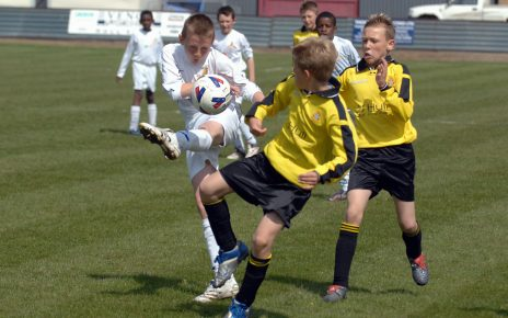 Will Boyle in action for Leeds Schools Under-11s against Hull